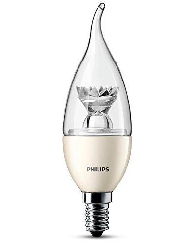 Philips LED E14 dimbare Bent Tip kaars lamp - 3,5 W verlichten tot 25 W output, warmwit licht