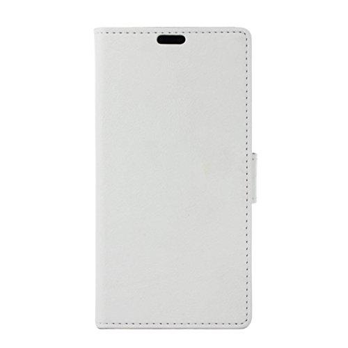 Coque Samsung Galaxy J2 Core,Haute Qualité Classique Style Fermeture Magnétique PU Cuir Flip Case Cover [Portefeuille ] [Porte-Carte] [Fonction de Support] pour Samsung Galaxy J2 Core - Blanc