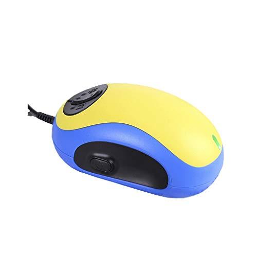 Praktisch und bequem Handheld elektronische Lupe , Mouse Watcher Lupe zum Lesen von PC-Bildschirm, 20x kabelgebundene Stimme, ältere Menschen, Sehhilfe, E-Reader, Amblyopie, Sehbehinderung, gelb blau