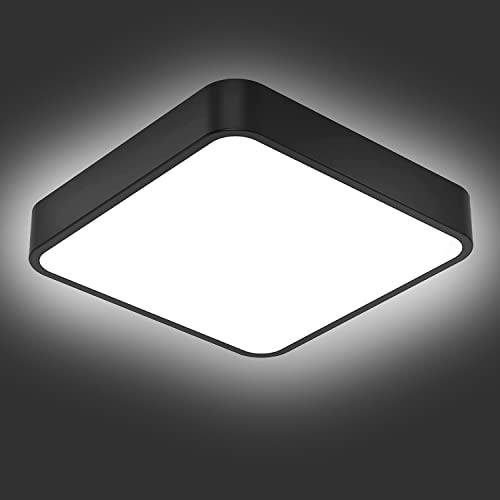 Lamparas de Techo, bedee Plafon LED Techo 24W Cuadrada Moderna Plafon LED 5000K Lampara LED Techo para Lamparas Cocina Baño Dormitorio Sala Estar Comedor Balcón [Clase de eficiencia energética A++]