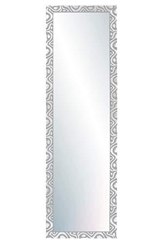 Chely Intermarket, Espejo de Pared Cuerpo Entero 35x140cm(44x149cm)/Plata-Plateada/Mod-144, Ideal para peluquerías, salón, Comedor, Dormitorio y oficinas. Fabricado en España. Material Madera.