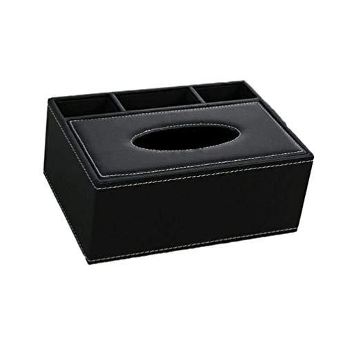 HEALLILY - Custodia per scatola di fazzoletti in pelle, rettangolare, porta asciugamani, fazzoletti, in carta, pompaggio, dispenser di carta, organizer da scrivania