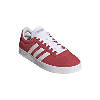 Adidas VL Court Two-Tone Lace-up Skateboarding Shoes for Women - Core Pink & Cloud White, 36 2/3