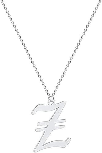 NC66 Collar de moda con letra para parejas, hombres y mujeres, nombre inicial, joyería de acero inoxidable, oro rosa, étnico, oro de la amistad, collares de regalo