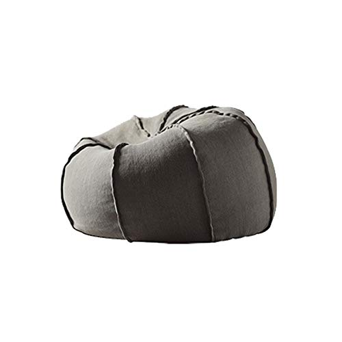 FINDYU Bean Bags, Washable Cover Lazy Sofa For Kids Adults Living Room Durable Comfortable Bean Bags With Particle Filling (Color : Gray)