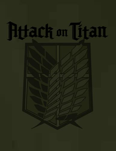 Attack On Titan: Eren Jäger notebook ( Competition book journal ) (8.5 x 11 Large)