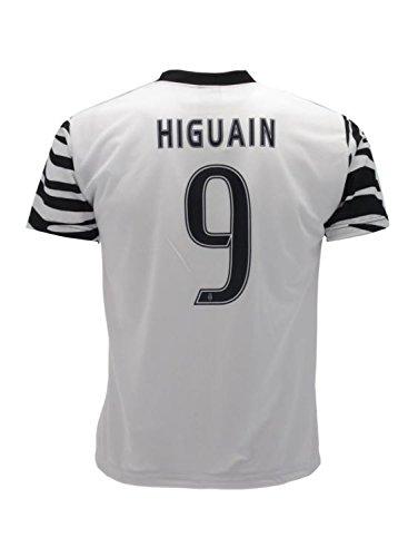 Maglia Zebrata Juventus Higuain 9 Replica Autorizzata 2016/2017 Size 4 Anni