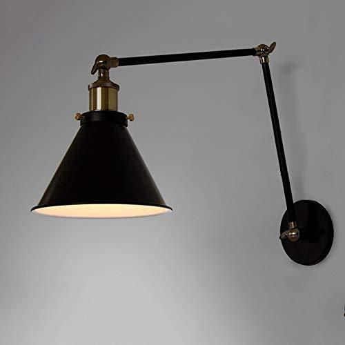 Retro Industriële Trechter Wandlamp, Lange Arm Intrekbare Metalen Verlichtingsarmatuur Geschikt Voor Het Versieren Van Slaapkamer, Achtergrondmuur, Trappen (zonder Lichtbron)