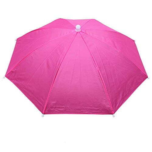 Hut als Sonnenschutz, elastisch, gerader Hut, Regenschutz, Angeln, Sonnenschirm, Tee, Sonnenhut, 55 cm Durchmesser, für Angeln, Garten, Fotografie, Wandern