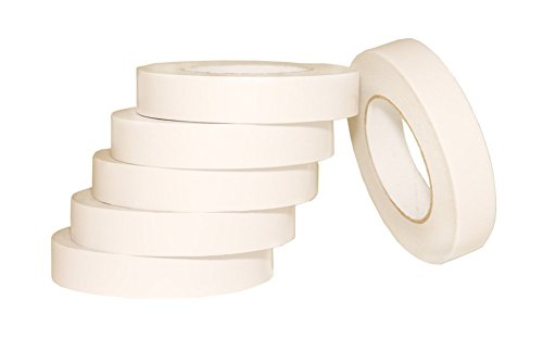 """AJ Sign World (Pack of 6) 1"""" Heavy Duty Banner Hem Double Sided Permanent Tape (1-Inch x 164-Feet/55 Yard)"""