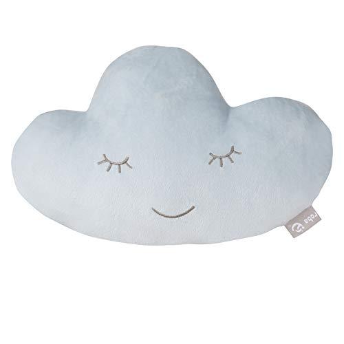 """roba Kuschelkissen """"roba Style"""" Wolke Hellblau/Sky, flauschiges Kinderkissen für Mädchen und Jungen ab 0 Jahren, weiches Dekokissen für Baby- und Kinderzimmer, Wolkenkissen, Zierkissen"""