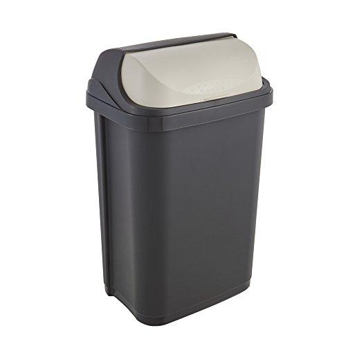 keeeper Abfallbehälter mit Rolldeckel, 25 l, Rasmus, Graphit Grau