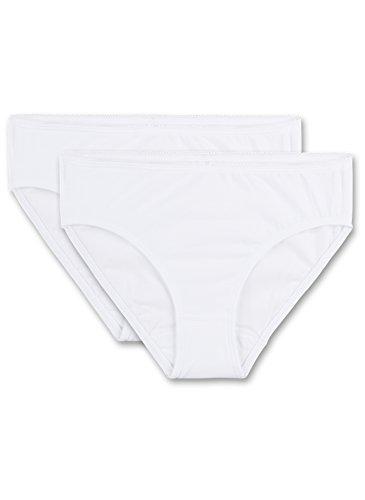 Sanetta Sanetta Mädchen 344836 Unterhose, Weiß (White 10), 140 (2er Pack)