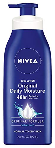 NIVEA Original Daily Moisture Body Lotion - 48 Hour Moisture For Normal To Dry Skin - 16.9 fl. oz. Pump Bottle