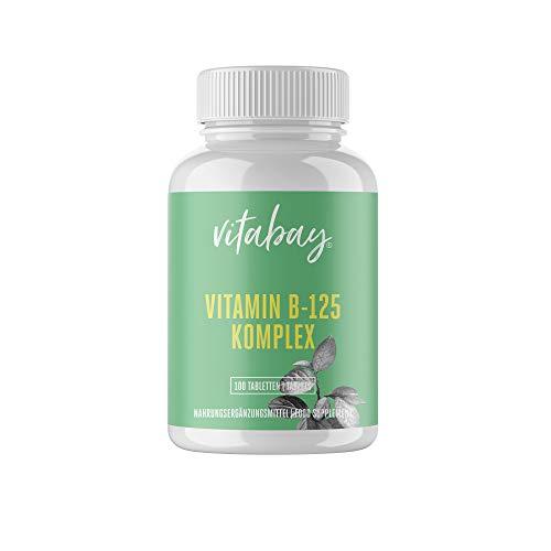 Vitamina B-125 - Complejo de vitamina B de alta dosis - contiene todas las vitaminas B - 100 tabl.