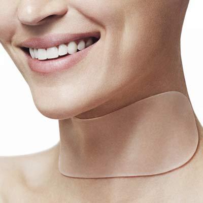 Anti Falten Pflaster für den Hals, 2 Wiederverwendbare Silikonpads für Halslinien, Behandlung und Vorbeugung von Falten, Glättungsfaltenentferner für Männer und Frauen