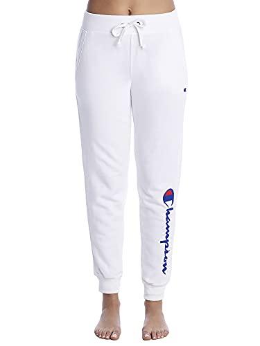 Champion Damen Powerblend Graphic Jogger Jogginghose, White-y07459, Groß