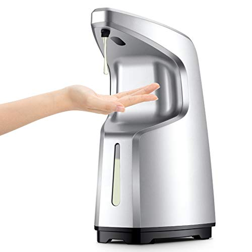 Automatic Soap Dispenser - Auto Touchless Hand Sanitizer Dispenser - No Touch Motion Sensor Liquid Soap Dispensers for Bathroom and Kitchen - Hands Free Electronic with Adjustable Volume - 15oz
