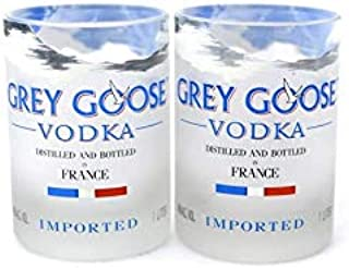 Grey Goose Vodka Rocks Gläser 2er Set tolles Geschenk Innendesign