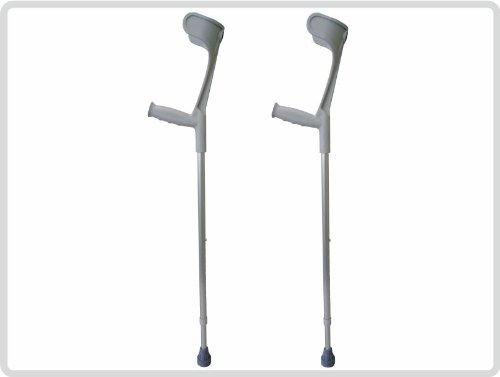 Unterarmgehstützen Gehhilfen Krücken 1 Paar (links und rechts) Leichtmetall Farbe: Grau *Top-Qualität zum Top-Preis*
