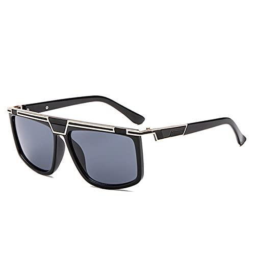 BAJIE Gafas de Sol, Tops de Moda, Gafas de Sol para Hombre, Gafas de Sol Transparentes con gradiente para Hombre, Gafas de Sol con protección Uv400, Gafas Planas para Hombre