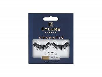 Eylure Dramatic False Lash Style No 126 Reusable Adhesive Included Black  1 Pair