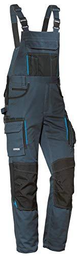 Tune-Up Pantalones de Trabajo Largos para Hombres - Petos con Cintura elástica y Bolsillos en la Rodilla - Azul