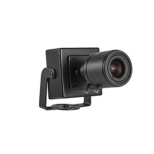 Revotech Zoom Mini telecamera IP POE, HD 3MP Piccola Telecamera di Sicurezza per Interni ONVIF, Obiettivo Zoom Manuale da 6-22 mm P2P Videocamera CCTV H.265 (I712-2-P Nera)