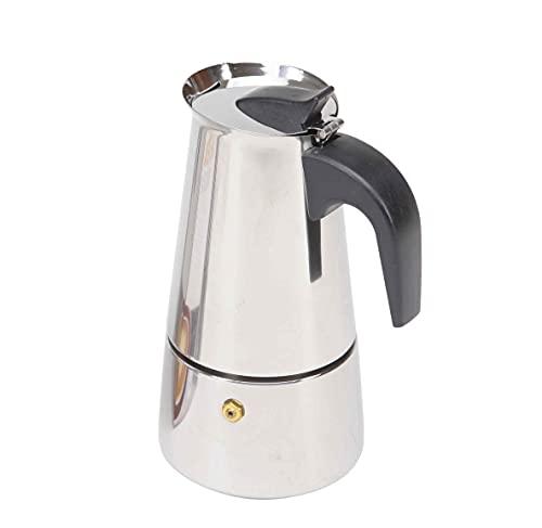 Cafetera de acero inoxidable   Cafetera Moka para inducción capacidad de 2 a 12 tazas   Cafetera espresso con filtro desmontable y mango ergonómico antiquemaduras (6 Tazas)