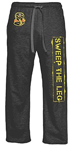 Ripple Junction Karate Kid Cotton Pajama Bottoms, Unisex Novelty Sleepwear, Heather Charcoal