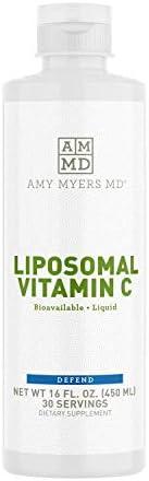 Liposomal Vitamin C Liquid by Dr Amy Myers 1000mg 16 Oz High Absorption VIT C Ascorbic Acid product image