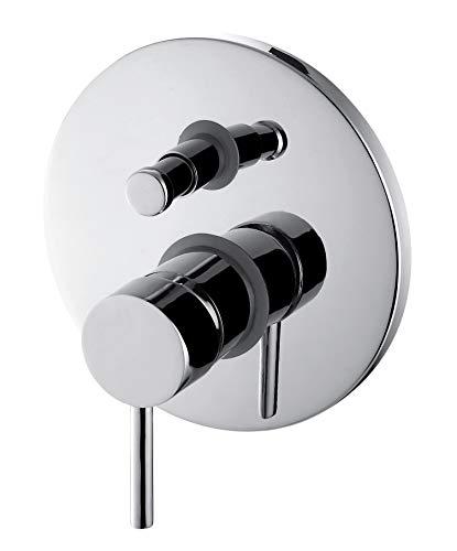 GRIFERIAS BORRÁS - SERIE MIL - Grifo Monomando empotrar para baño y ducha MIL03405C , Cromo - Instalación Baño