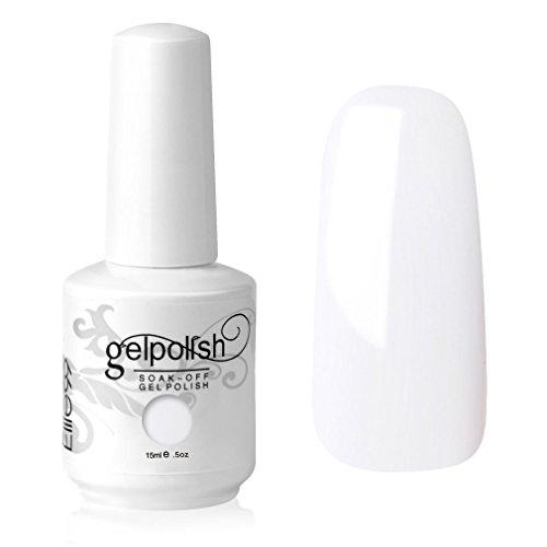 Elite99 UV LED Gel auflösbarer Nagellack Nagelgel Gellack Schnee Weiß White 15 ml