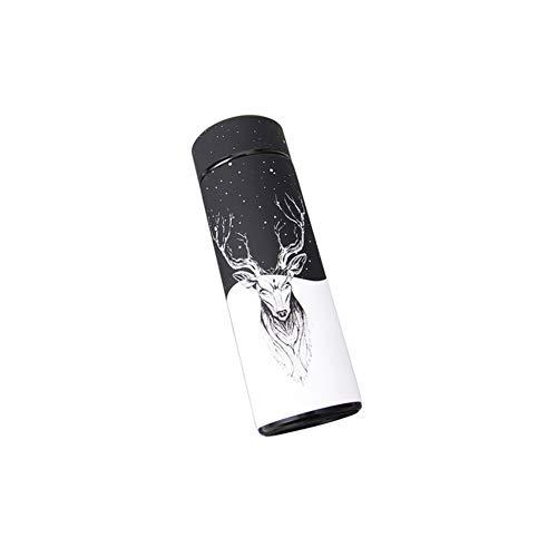 BANAMANA 350ml Isolierung Wasserflasche mit Elch-Muster-Edelstahl-Vakuum Cup für Camping-Reisen