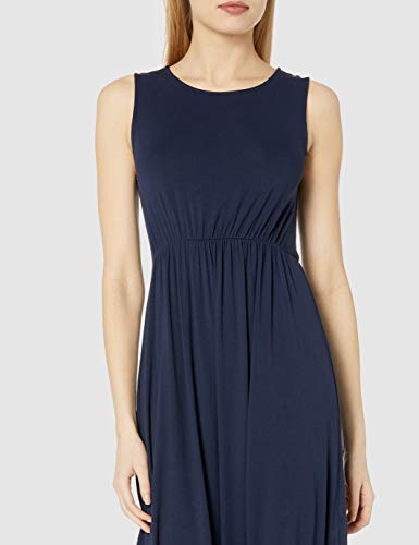 Amazon Brand – Daily Ritual: vestido sin mangas para mujer, Azul (Navy 410), US L (EU L - XL)