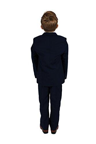 Vivaki 5 Piece Slim Fit Navy Suit, 0/3m to 14 Years