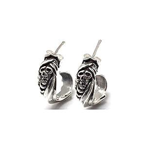 シルバー925 メンズ ピアス 両耳 アクセサリー シンプル かっこいい おもしろ シルバーピアス/シルバー925 EU-0176 1610