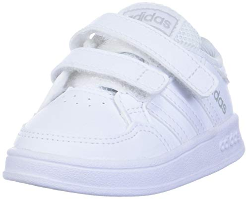 adidas Kids Breaknet Tennis Shoe, White/White/White, 7.5 US Unisex Toddler