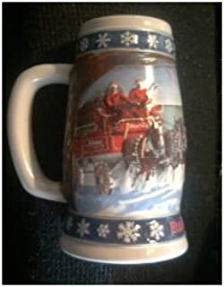 1995 Budweiser Holiday Stein: Lighting The Way Home