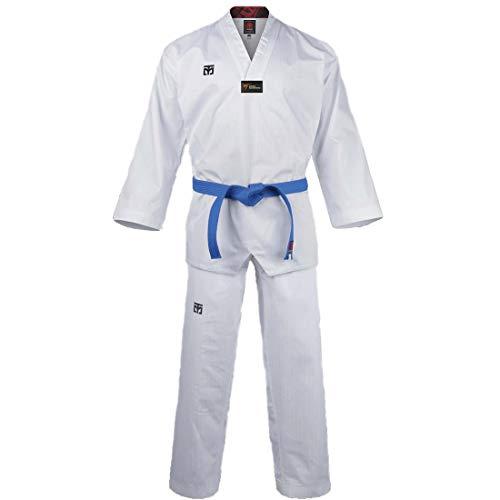 Mooto Corea Taekwondo Basic 4.5 Uniforme BS4.5 Dobok Cuello Blanco Logotipo WT TKD Artes Marciales MMA (180 (Height : 180~189cm)(5.90~6.20ft))