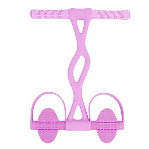 Growcolor Cinturón de Resistencia para Pedales Yoga Equipo doméstico de Fitness Cinturón de Resistencia para Pedales multifunción Ejercitador de Abdominales(Rosa Profesional)
