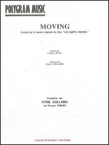 MOVING (Les nuits fauves) (partition)