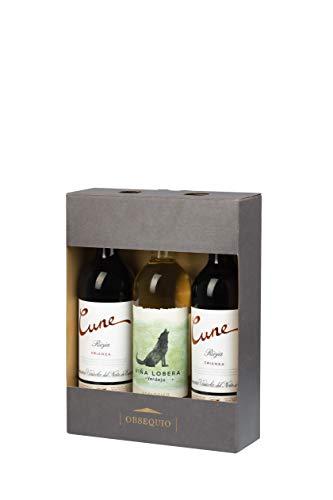 Estuche 2 botellas de Cune Crianza 75cl + Viña Lobera Verdejo Eco 75cl de regalo