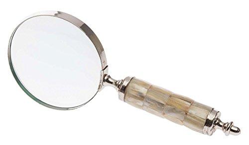 Lupe Leselupe Lesehilfe im antik Stil mit Perlmutt Optik Larp Vergrößerungsglas