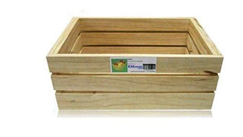 EM Home 1 Piezas Caja de Almacenamiento,Caja de Madera Fruta,También Puede Vender 4 Juegos, tamaño: