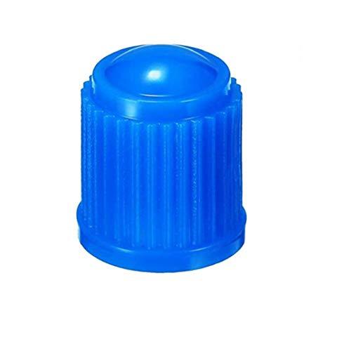 50pcs casquillo de válvula de plástico de la válvula del neumático del polvo Covers del casquillo de válvula Schrader para coche bicicleta Camiones de motos y bicicletas azul