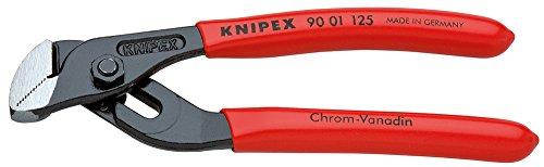 KNIPEX 90 01 125 Mini pinza regolabile per tubi e dadi con scanalature di guida fresate bonderizzata nera rivestiti in resina sintetica 125 mm
