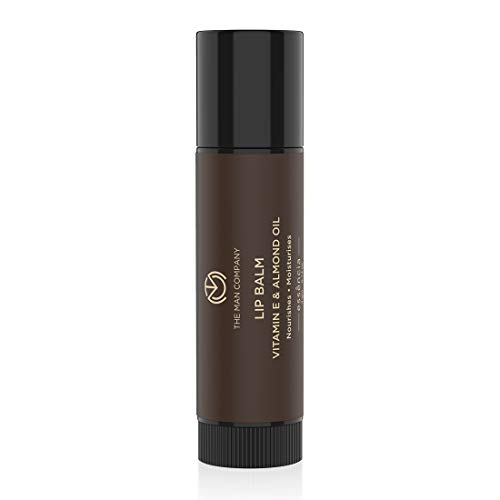 The Man Company Nourishing Lip Balm with Vitamin E, Almond & Olive Oil | Soft, Supple, Moisturizes | Free from Dry / Chapped Lips - 4gm