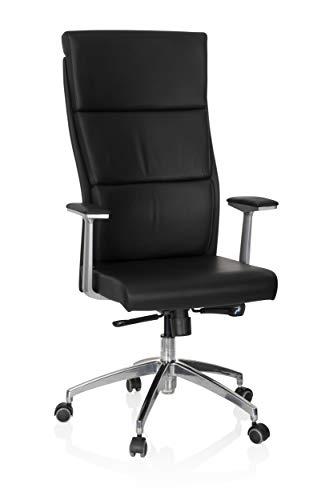 HJH Office 600400 Sedia da ufficio/Sedia presidenziale MONZA 20 pelle nero, meccanismo...