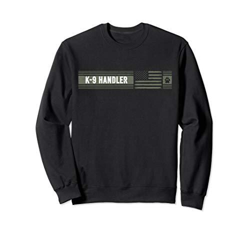 K-9 Handler K9 Unit Gift | Distressed | American Flag Sweatshirt